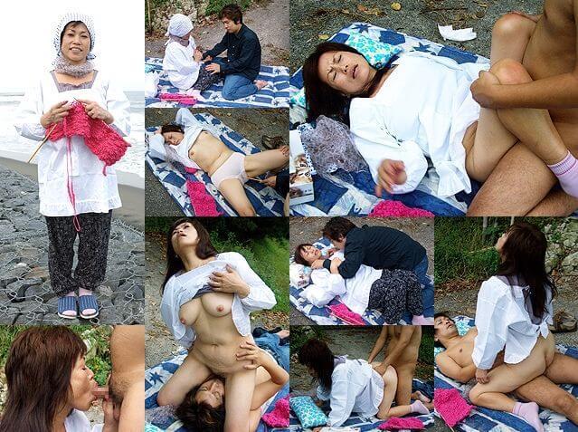 日野麻里子 畑に布団を敷いて、親子で合体 無修正 トリプルエックス