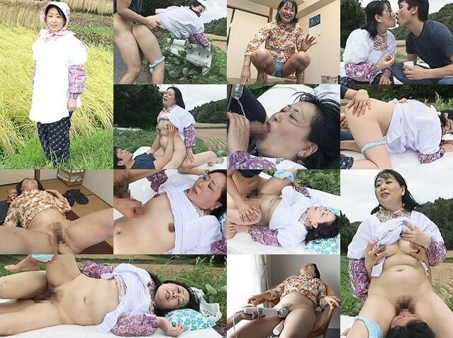田中静江 いなかっぺ熟女と、畑で野外セックス! 無修正 トリプルエックス